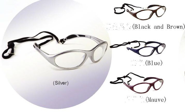 X-Ray Radiation Protection Glasses 0.75 mmPb Style D w/wipe & case ( 4 frame color for your choice )