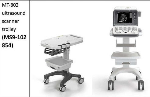 Mobile Trolley Cart for Edan DUS6/ DUS3 D3/D6 Mindray DP-6600 ultrasound system
