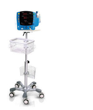 Rolling Stand Vital Sign Monitor Fetal Monitor Ecg Aed