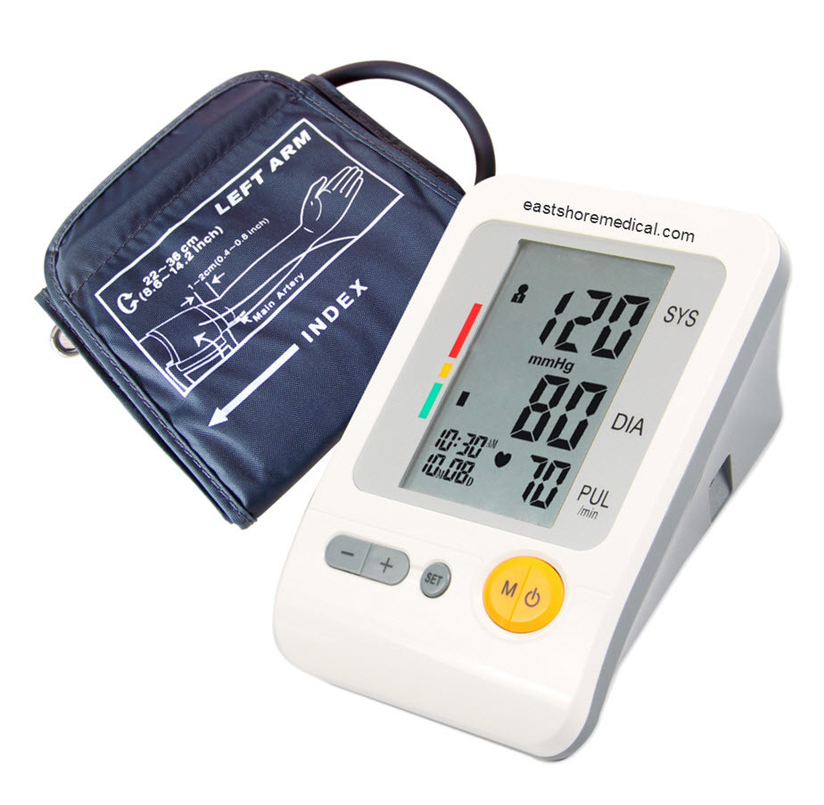 EastShore 103H Digital arm blood pressure monitor Large LCD+features (120 Memory , WHO indicator)