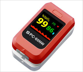 PC-60NW Fingertip pulse oximeter, color 4 way automatic display , audible alarm ,data storeage , bluetooth communicating with PC