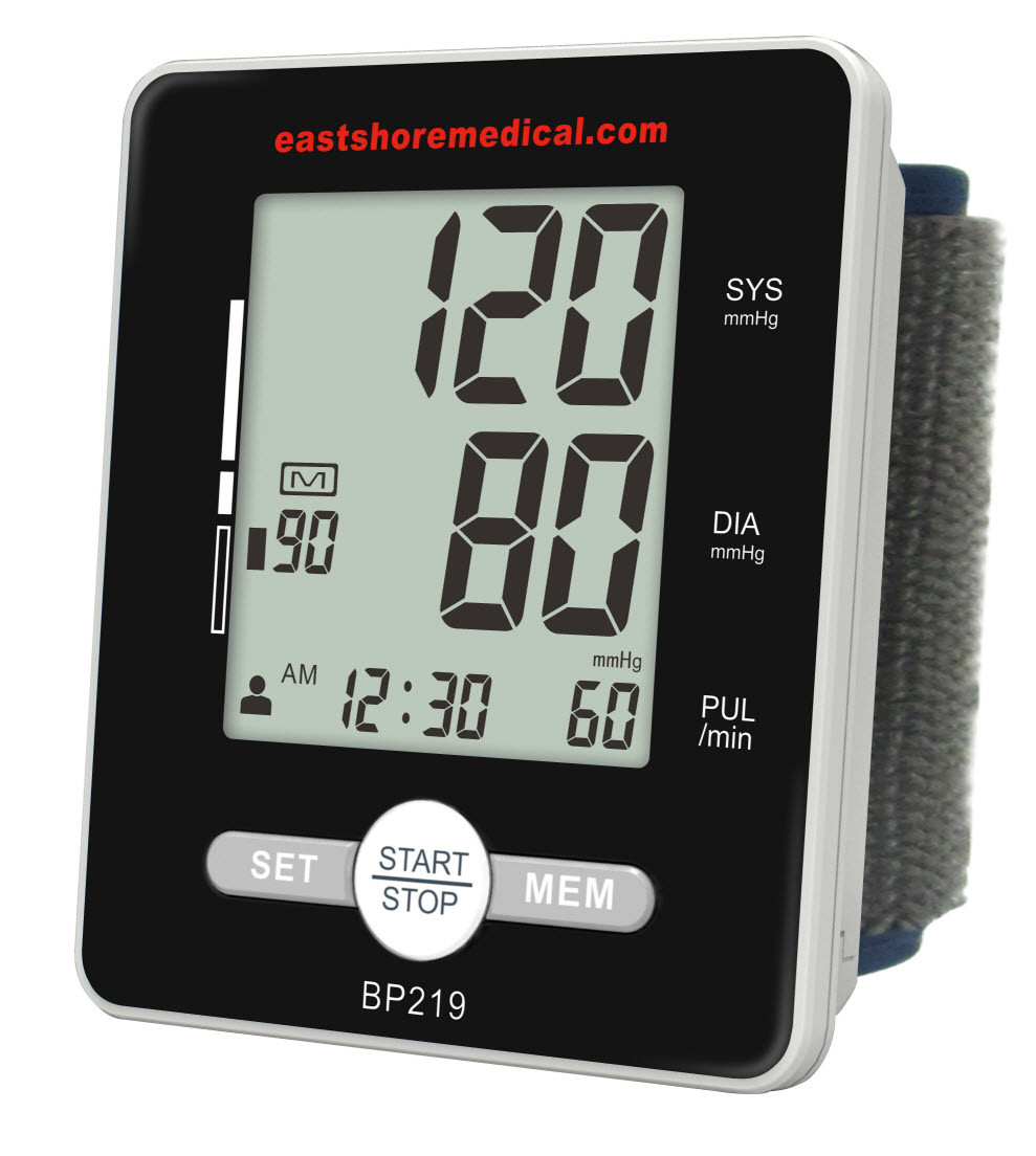 EastShore BP219 Wrist Blood Pressure Monitor with MWI technology, Talking Function, Heart Level Detector