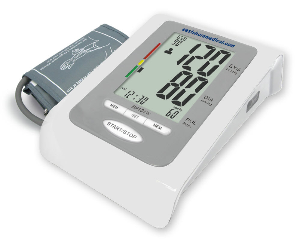 BP101W Digital arm Talking blood pressure monitor Large LCD, Extra Large cuff,  PC data management
