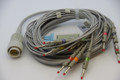 KENZ 10 Lead ECG/EKG Cable AHA Banana 4.0mm FDA/CE Approved  for CARDIOLINE , 103, 106