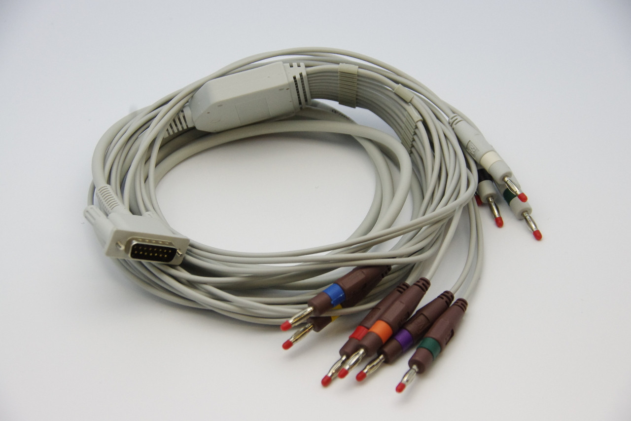 10 lead 1 piece ECG cable for Bionet Patient Monitor w/ banana head