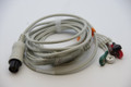 AAMI 6 Pin ECG 1 PIECE Cable - 5 Lead SNAP HEAD FOR  Criticare Datascop Welch-Allyn