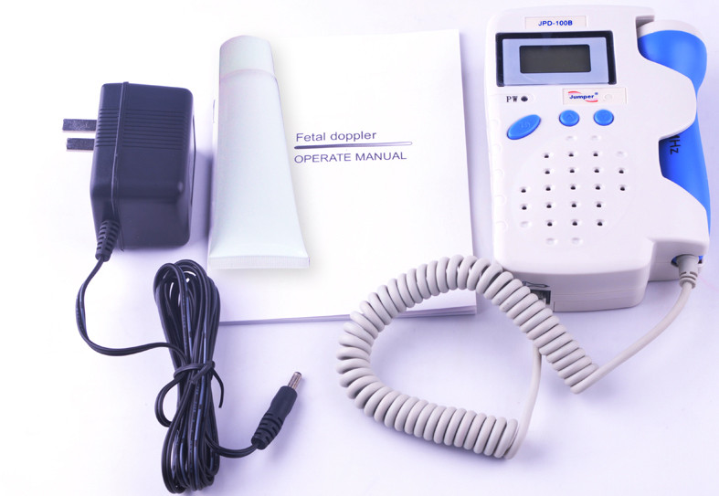 AngelSounds JPD-100B 3mhz fetal prenatal heart doppler ,with rechargeable battery and charger
