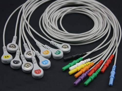 ECG leadwire set/Din style/10-leads/Snap/AHA/0.9M
