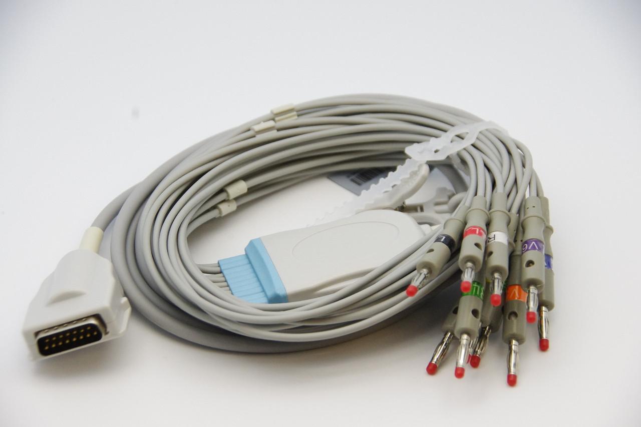 BURDICK 10 Lead ECG/EKG Cable AHA Banana 4.0mm FDA/CE Approved For Eclipse, Quinton, Atria
