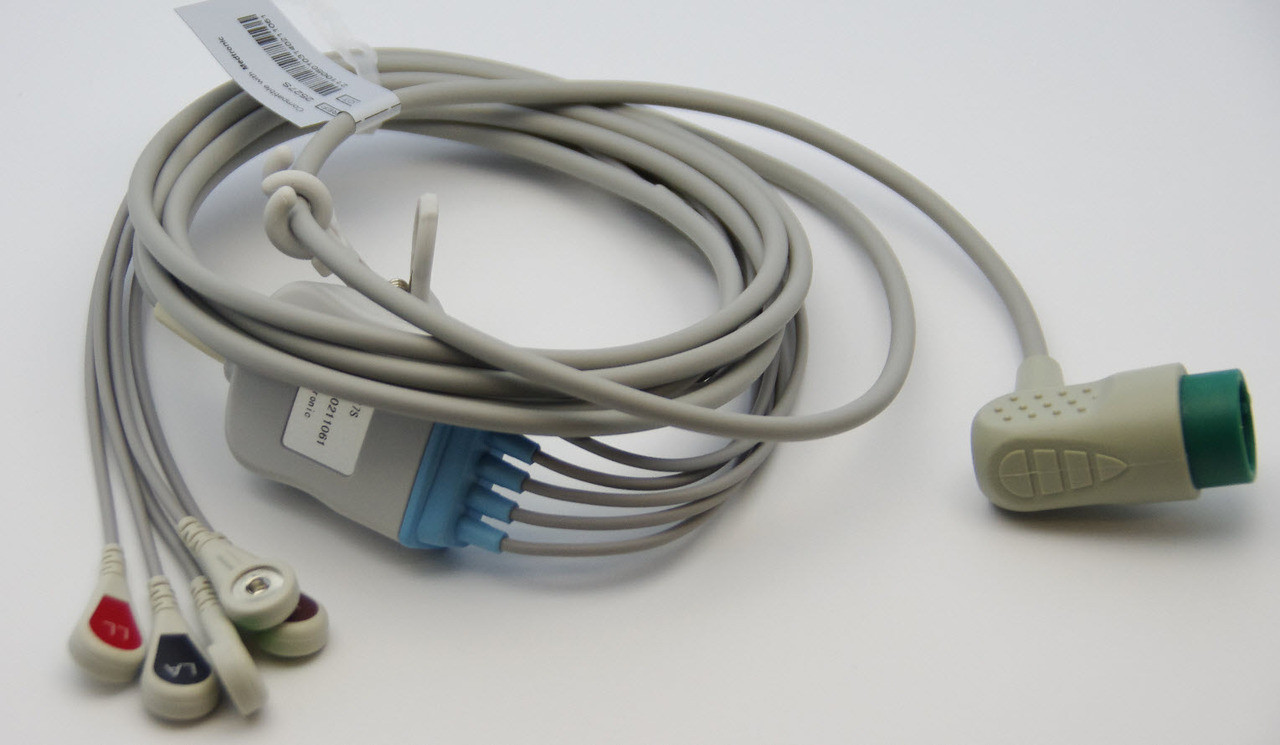 5 lead ECG cable for Physio-control/Medtronic LIFEPAK12, LIFEPAK20E,LIFEPAK15
