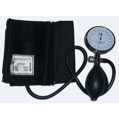 One Hand Adult Size Aneroid Sphygmomanometer WITH D-RING,  Large Adult  Cuff 30.3-50.8CM (13.5-20 IN)