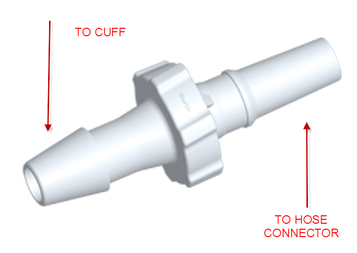 Cuff connector for adult cuff attaching to neonate hose (BP-05PR)