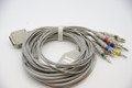 ECG/EKG CABLE FOR NIHON KOHDEN 10 LEADS, 4MM BANANA (NO SCREW) CADIOFAX