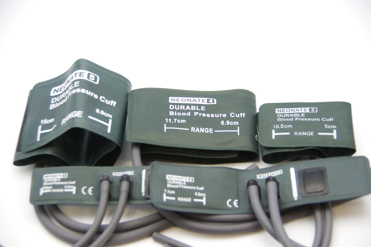 Reusable Double hose Neonate Blood Pressure Cuffs for Veterinary Use, 5 size available , no connector