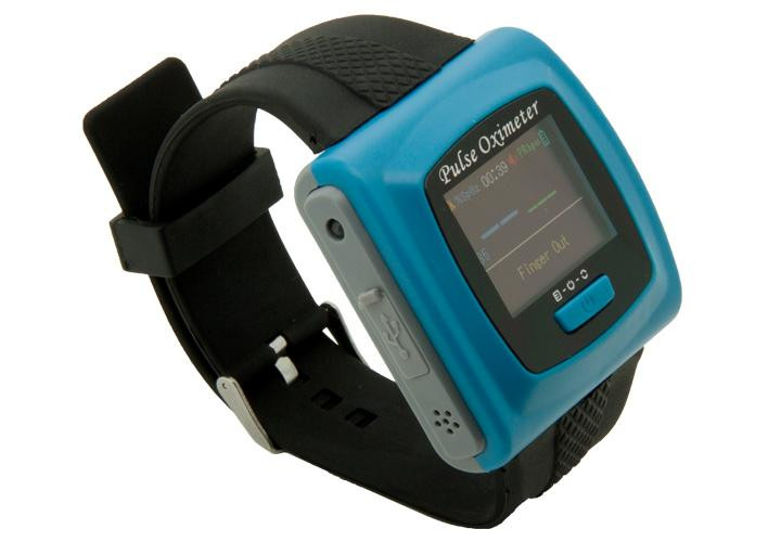 CONTEC CMS50F WRIST OXIMETER W/ BLUETOOTH, COLOR SCREEN, LITHIUM BATTERY , CHARGER ,