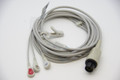 AAMI 6 Pin ECG 1 PIECE Cable - 3 Lead SNAP HEAD STRAIGHT CONNECTOR  FOR  Criticare Datascop Welch-Allyn