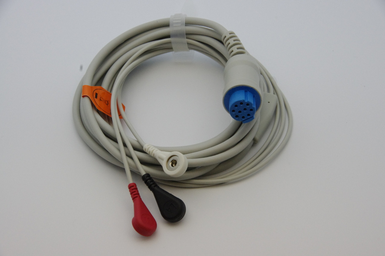 1 PIECE Cable with 3 leads Datex Ohmeda GE S5 blue connecotor ( with resistor)