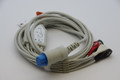 1 PIECE Cable with 5 leads Datex Ohmeda GE S5 blue connecotor  ( with resistor)