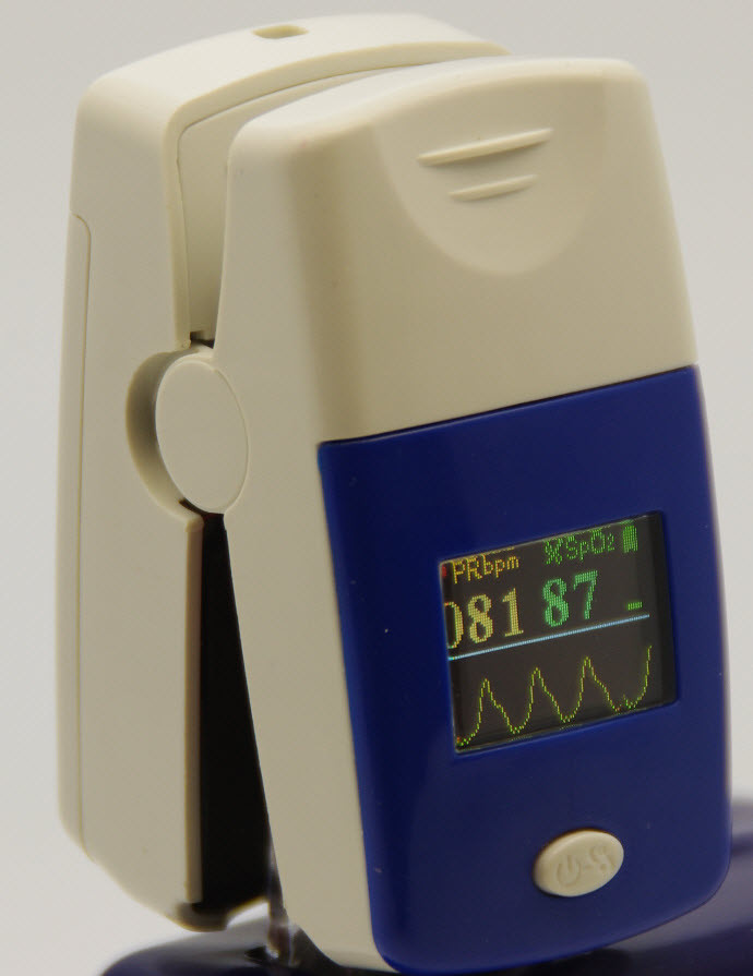 CMS50C figuretip oximeter , 2 way display , waveform, carrying case included free shipping in USA