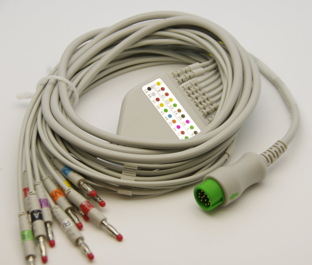 ECG/EKG CABLE FOR MINDRAY BENEVIEW 10 LEADS, 4MM BANANA