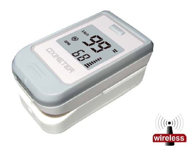 POD-1W Fingertip pulse oximeter, 2 way automatic display , bluetooth communicating with Android or iOS smartphone