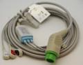 ECG 1 PIECE Cable - 3 Lead SNAP HEAD FOR BIOLIGHT M7000 M7000VET