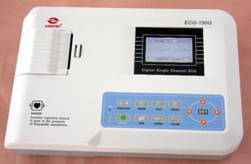 CONTEC ECG300G 3-Channel 12-lead ECG-EKG FDA NEW SHIPPED AND SERVICED FROM USA