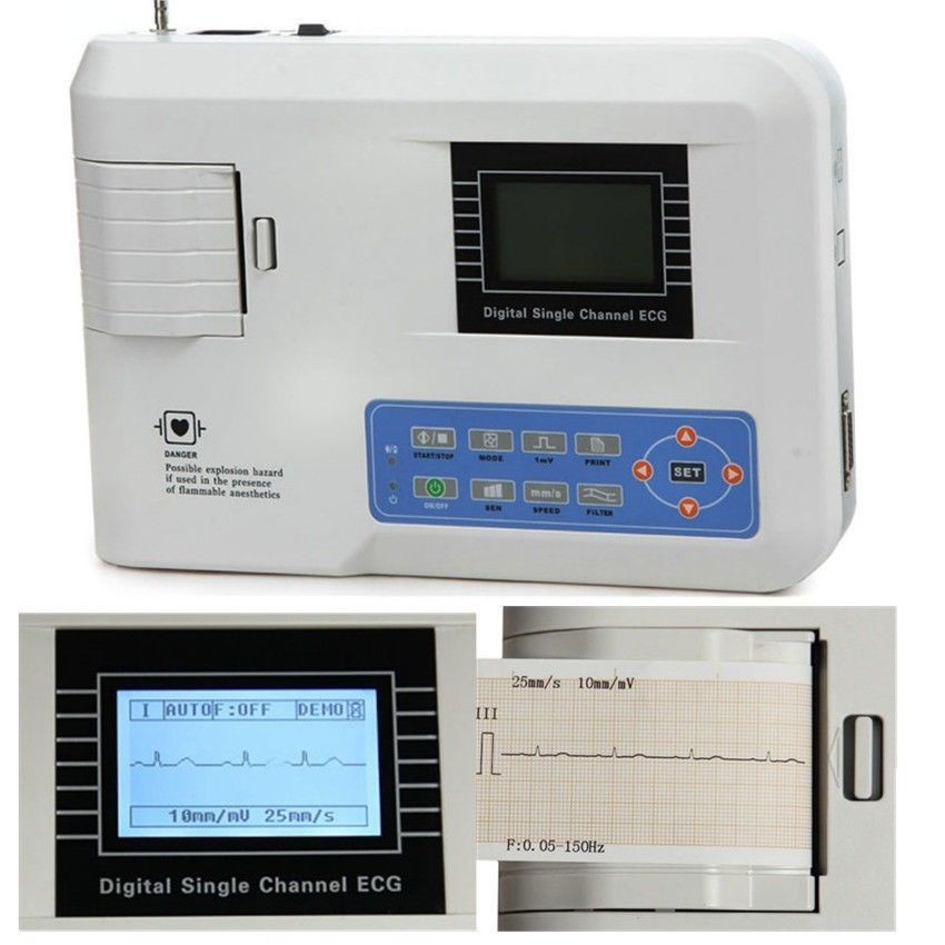 CONTEC ECG100G 1-Channel 12-lead ECG-EKG FDA NEW SHIPPED AND SERVICED FROM USA