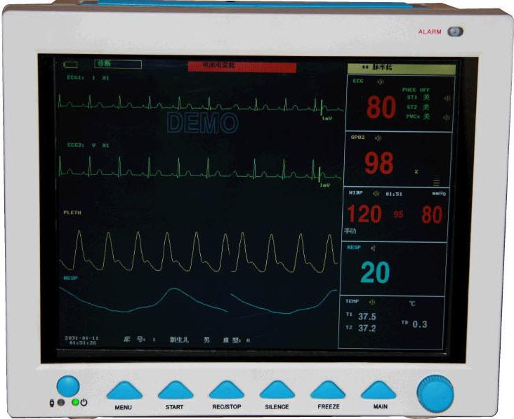 CONTEC CMS 8000 Patient Monitor ECG EKG SPO2 NIBP RESP TEMP PR USB port