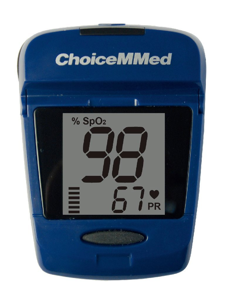 ChoiceMMed Fingertip Pulse Oximeter with Pedometer, 2-In-1
