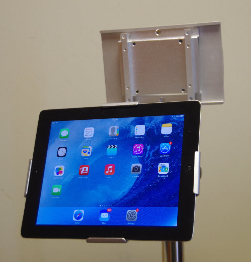Tilting and Rotating tablet ( iPad) holder kit for Small Wheel Rolling stand