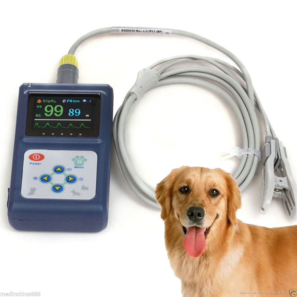 PM-60D Handheld veterinary Pulse Oximeter, with data management software