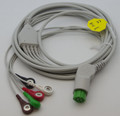 1 PIECE Cable with 5 leads Datex Ohmeda GE S5 (green connector , without resistor)