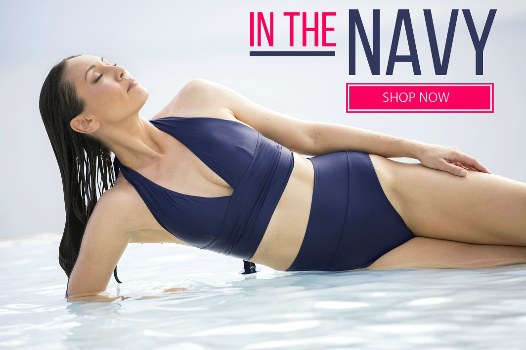 Navy swimsuits and more from Tara Grinna Swimwear