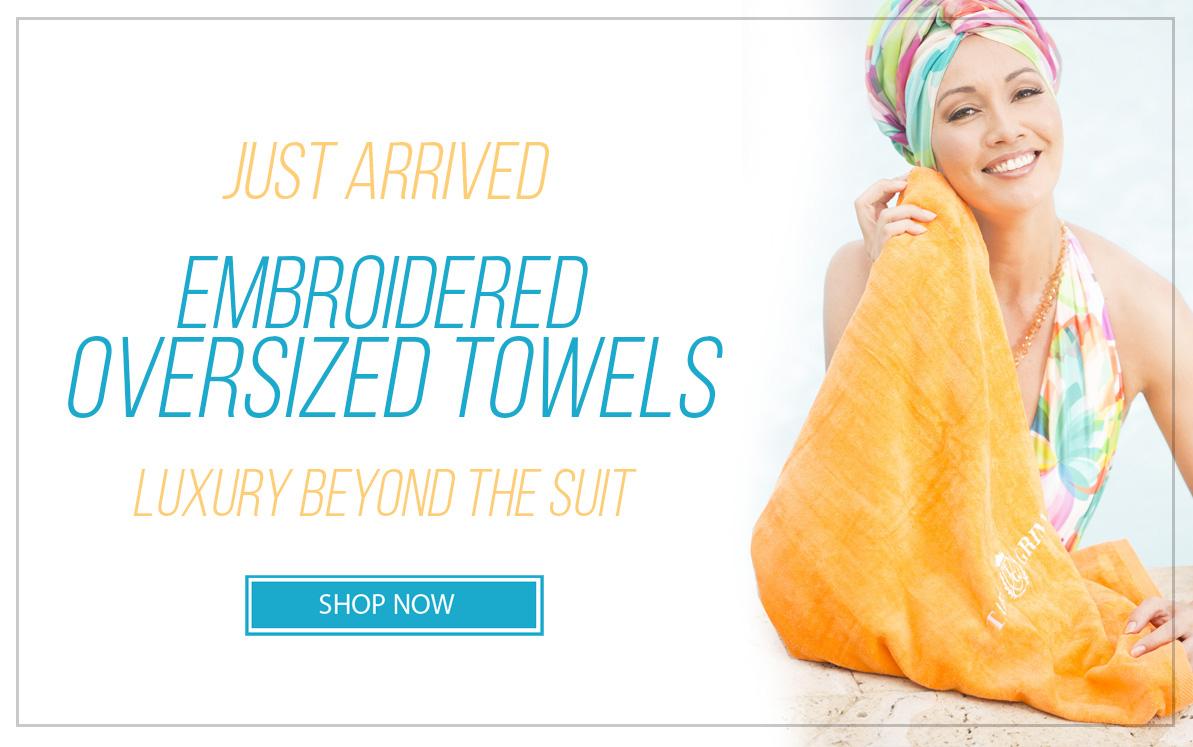 Shop for Tara Grinna 2018 Oversized Embroidered Towels