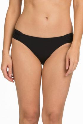 Black Ruched Tab Bikini Bottom FT-258