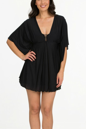 Black Kaftan Cover Up FT-417