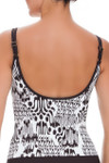 Brown and Ivory Tankini CM-107