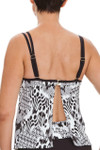 Brown and Ivory Tankini Underwire CM-112