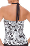 Brown and Ivory Loose Fit Tankini CM-144