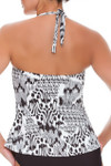 Brown and Ivory Tankini CM-150
