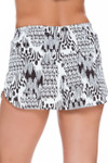 Brown and Ivory Shorts Cover Up CM-461
