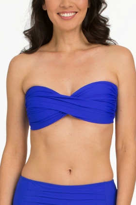 Blue Molded Cups Bandeau RY-136