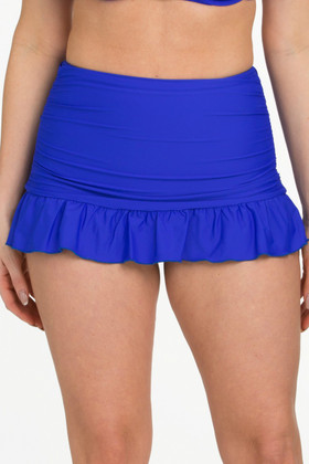 Blue Bottom Flounce Skirted Pant RY-222