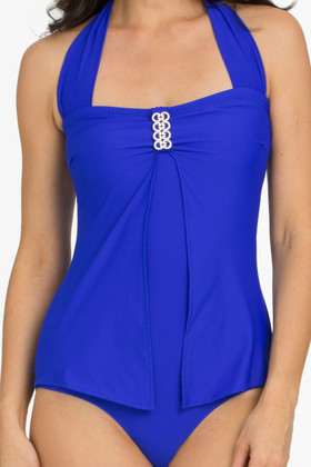 Blue Bandeau One Piece RY-354