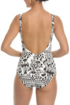 Brown and Ivory Surplice Maillot CM-313