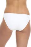 White Ruched Tab Bikini Bottom ND-258