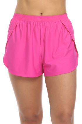 Pink Shorts Cover Up CA-461