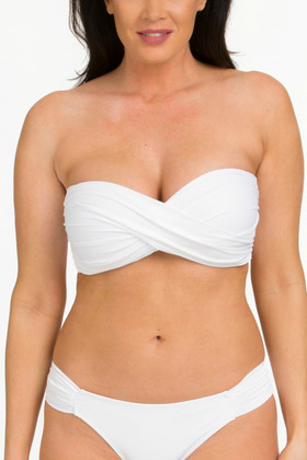 White Molded Cups Bandeau ND-136