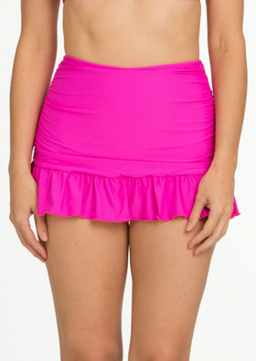 Pink Bottom Flounce Skirted Pant CA-222